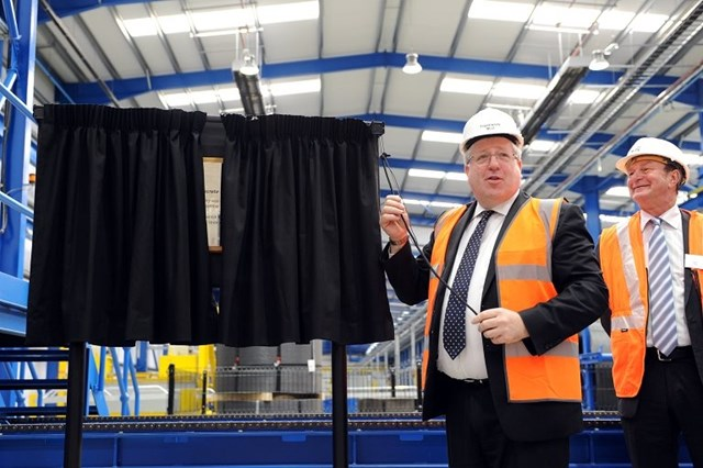 Doncaster Sleeper Factory opening: Secretary of State for Transport, Patrick McLoughlin, opens Doncaster Sleeper Factory