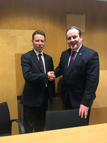 FinTech Scotland CEO with Minister for Business