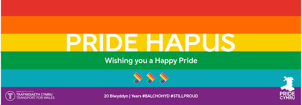 Transport for Wales supporting Pride Cymru: pride (2)