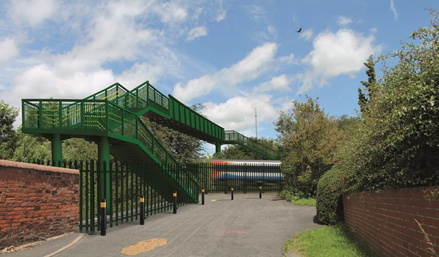 Network Rail to build new footbridge at Little Bowden: The proposed design of the footbridge at Little Bowden-2