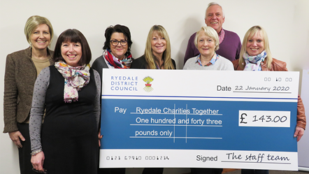 RDC staff get behind local charities: RDC staff get behind local charities