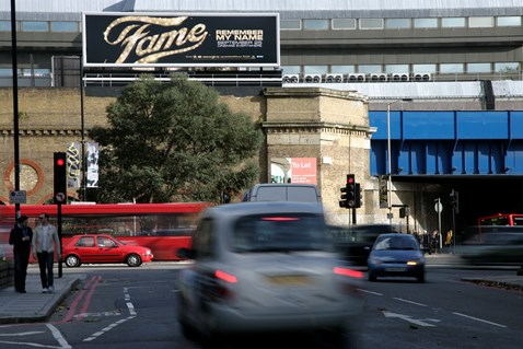 Roadside advertising site - Blackfriars Rd