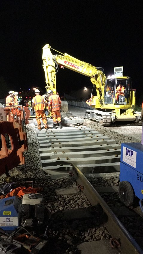Bridge installation works overnight