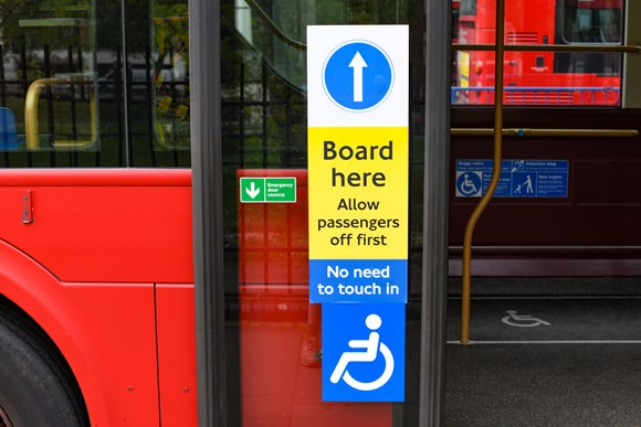 TfL image - Middle-door boarding signs
