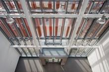 The atrium inside the Manchester Rail Operating Centre (ROC)