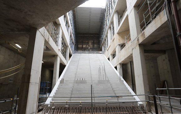 TfL Image - Bank Escalator bank under construction