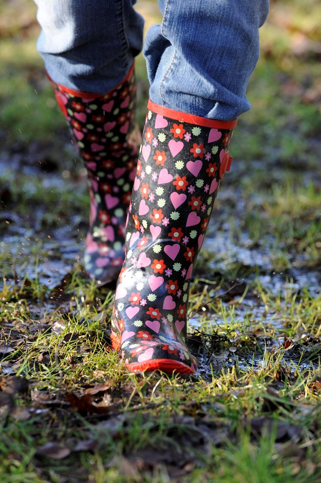 Wellies in mud - Image by Lorne Gill from NatureScot