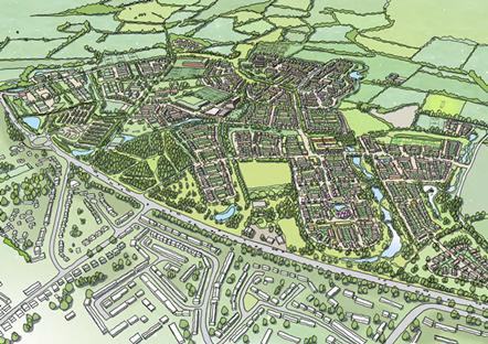 Grosvenor lodges plans for garden village in West Oxfordshire: Garden Village plan resized