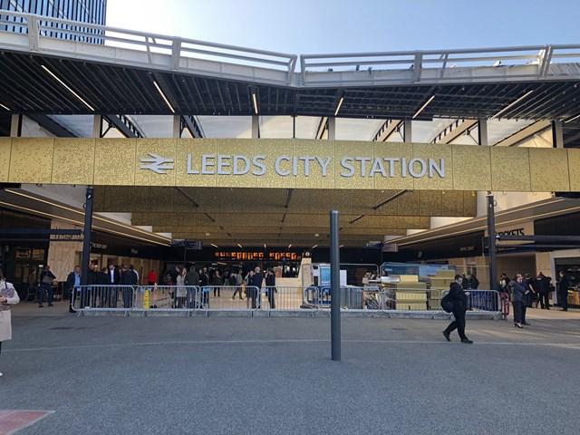 Leeds City Station sign