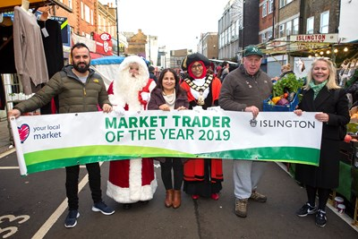 Islington's Market Traders of the Year 2019 revealed at Chapel Market festive event