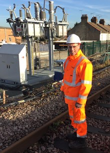 Network Rail project manager Gary Desmond railway