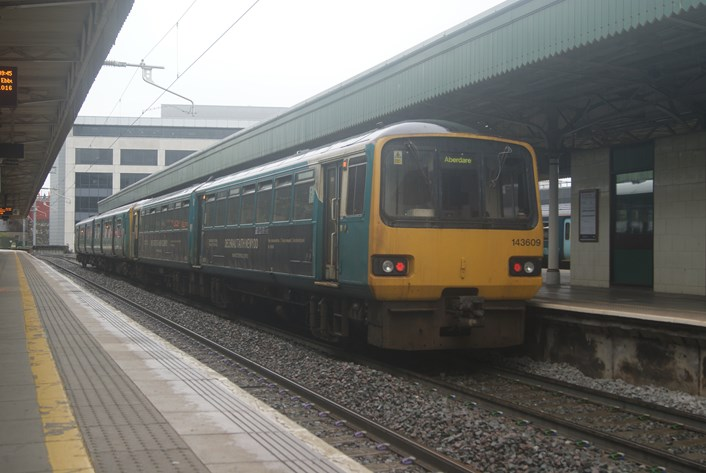 Pacer at Cardiff Central: Class 143 Pacer 143609 at Cardiff Central, 28 May 2021