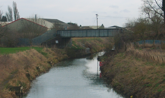 River remains open for replacement railway bridge works at Whittlesey: Harts Bridge Whittlesea