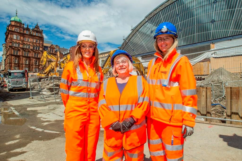 Demolition creates room for improvement at Queen Street: Queen Street - Network Rail's Melanie Workman and Julie Ferrie, right, with Sandra White MSP, centre.