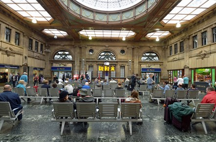 Train companies to support Thomas Cook customers and staff: Edinburgh Waverley concourse