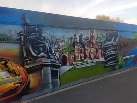 St Helens Footbridge Mural 5