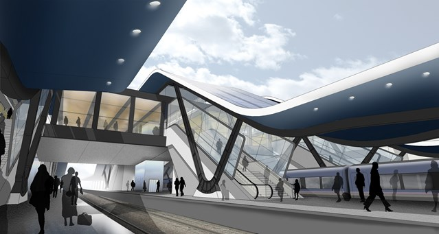 NETWORK RAIL SHOWCASES VISION FOR THE FUTURE OF READING STATION: Reading station CGI
