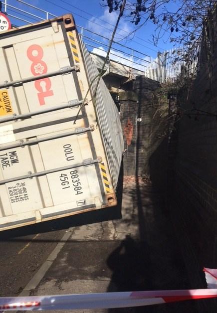 Erdington bridge strike lorry