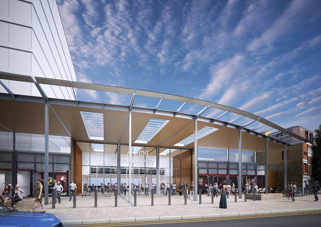 Passengers advised to check before they travel ahead of bank holiday station upgrade works at Ealing Broadway: A CGI image of what Ealing Broadway will look like when all the upgrade work is complete
