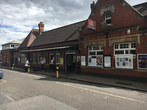 Front of Newbury station