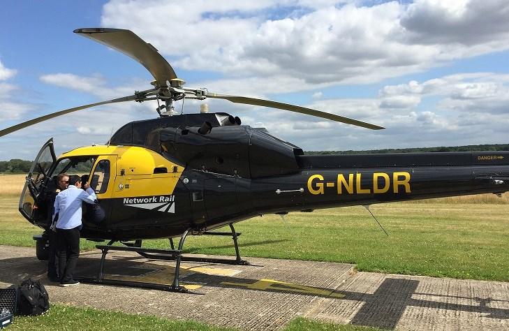 Paddington Station 24/7 takes to the skies with Network Rail's aerial survey team: Heli 1