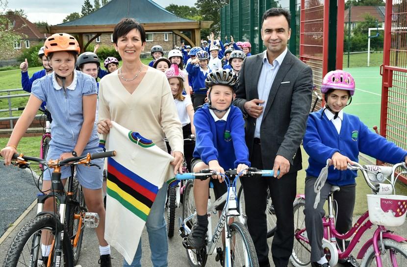 Images from Mandy Bishop rainbow jersey tour visit to Leeds: irelandwoodbiketrackwithmandybishop-838683.jpg