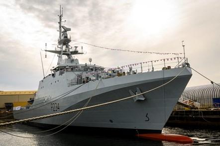 HMS Spey named at shipyard ceremony: HMS Spey named at shipyard ceremony