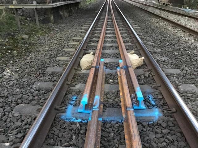 Track renewal work at Carnforth 2