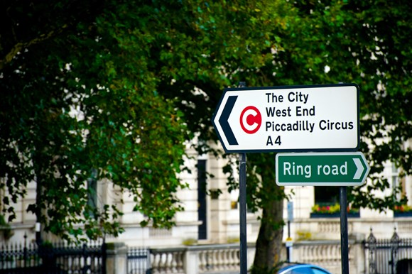TfL Image - Congestion Charge zone roadsign - The City