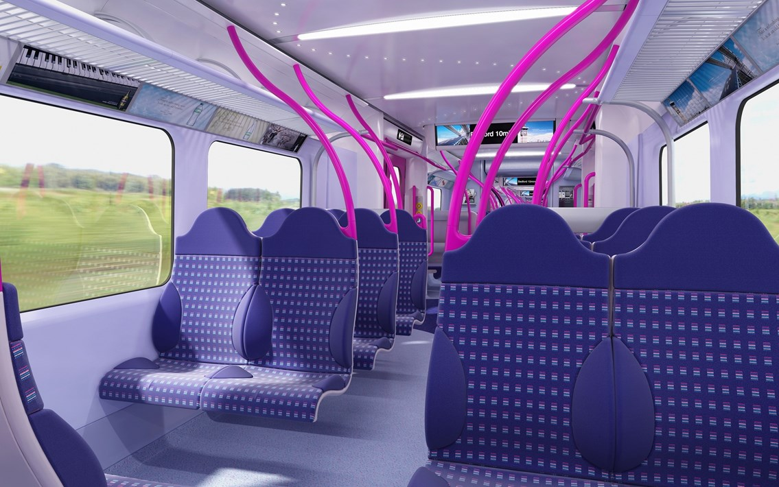 More space, longer trains: The inside of one of the new trains which will begin operating in 2012.