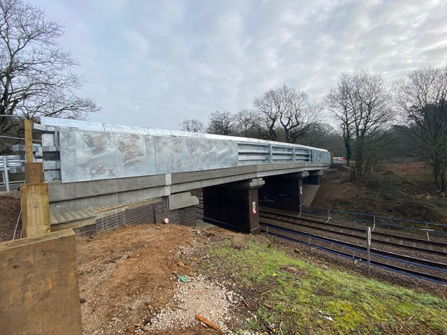 Two new bridges for Norfolk as replacement works complete: Eccles Heath Bridge complete 1