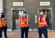 TfL Image - Staff at new lifts at Ealing Broadway station