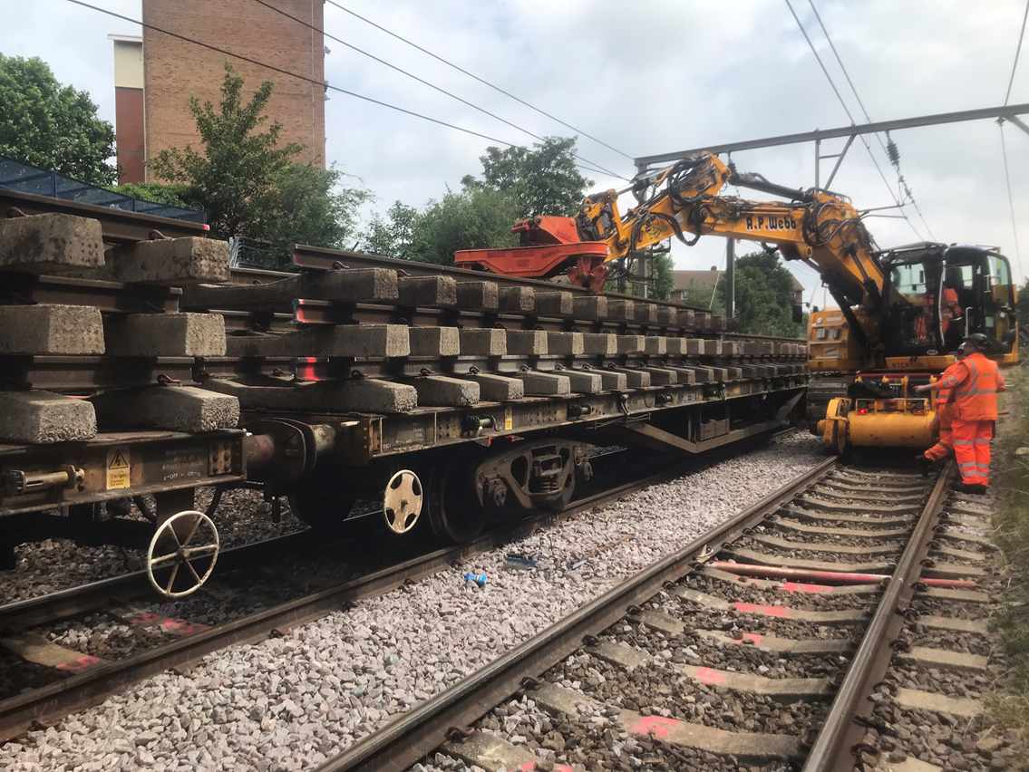 Improved reliability for rail passengers between London and Southend following track works: c2c line track renewals
