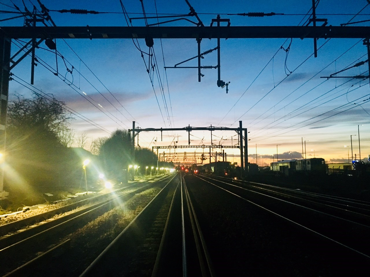 Glasgow rail junction's £4m Easter upgrade: Dawn near Glasgow