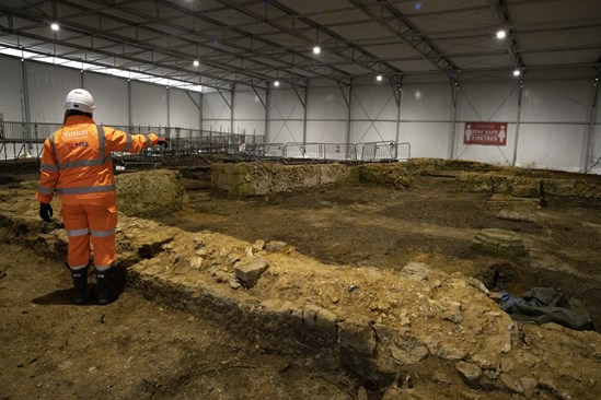 Archaeologists are working to excavate the site of St Mary's Church in Stoke Mandeville: The remains of a medieval church in Stoke Mandeville are being excavated by archaeologists working on the HS2 project.  Tags: Archaeology, St Mary's, Stoke Mandeville