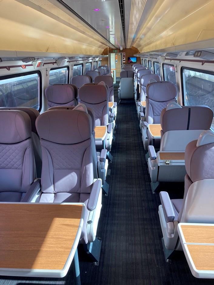 Swansea-Manchester Mark 4 first class interior