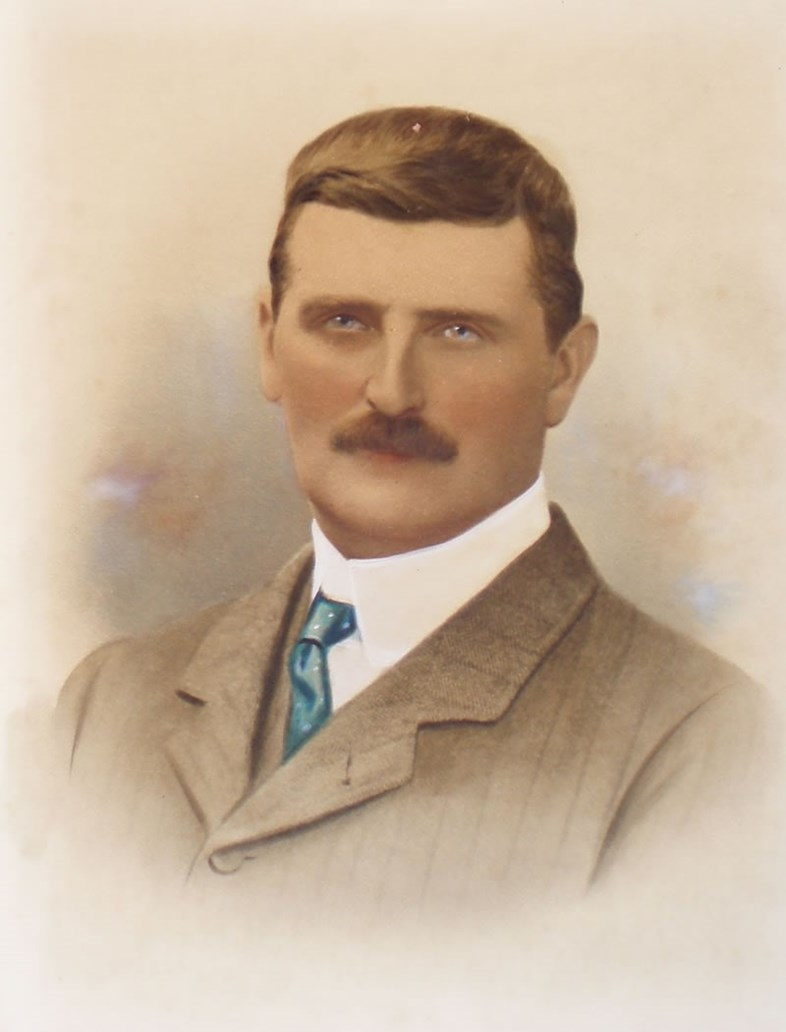 Railway Pioneer receives Blue Plaque at Tonbridge Station: colonel stephens-2