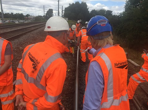 Michael Fabricant MP on track near Lichfield Trent Valley