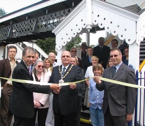 Taplow Station footbridge unveiling