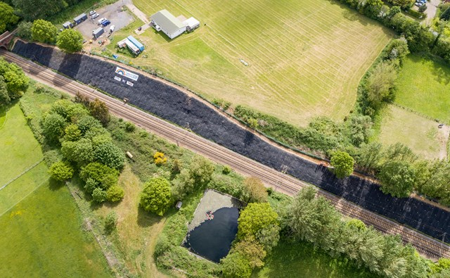 Embankment works carried out near Manningtree on the London to Norwich main line to prevent delays: Foxash embankment-3