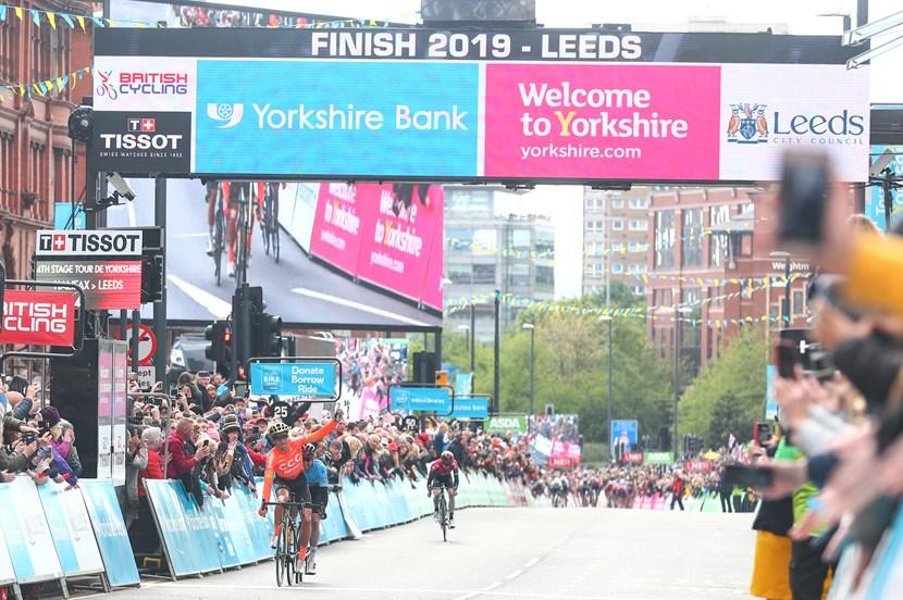 2020 Tour de Yorkshire and ASDA Tour de Yorkshire women's race postponed due to COVID-19: tdyfinish2019headrow-969320  (mandatory photo credit SWPix.com)