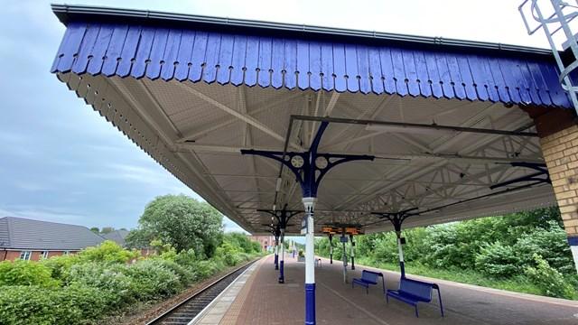 Walkden station canopy left side
