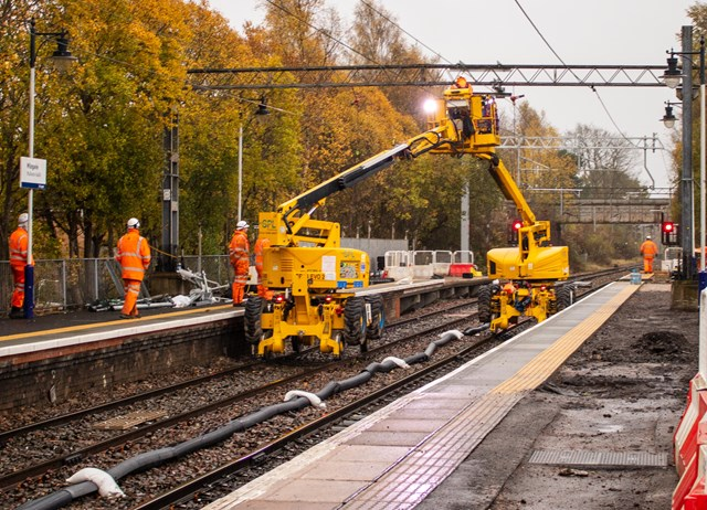 Extension work on-track for Milngavie Station: Milngavie platform works