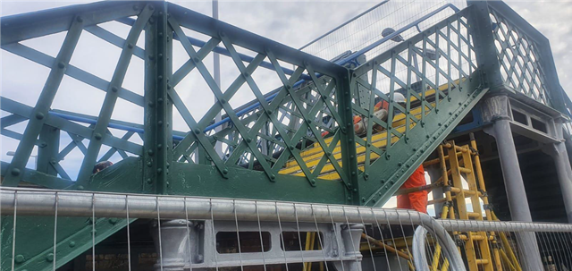 Snodland station upgrade continues with £0.5m footbridge refurbishment in Kent and a mural inspired by a local school: Snodland footbridge works