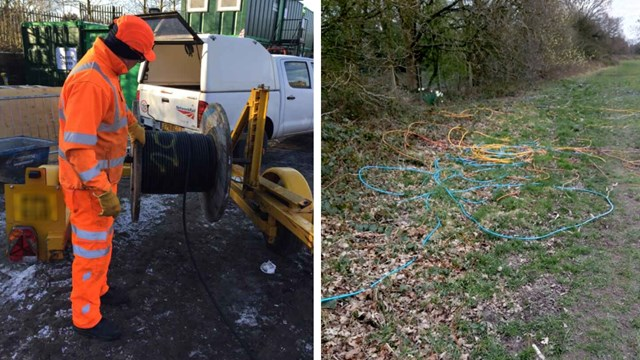 Key worker journeys jeopardised after metal thieves rip out railway signalling cable: Cable thefts