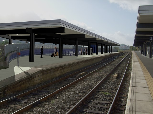 New canopy for platform 4