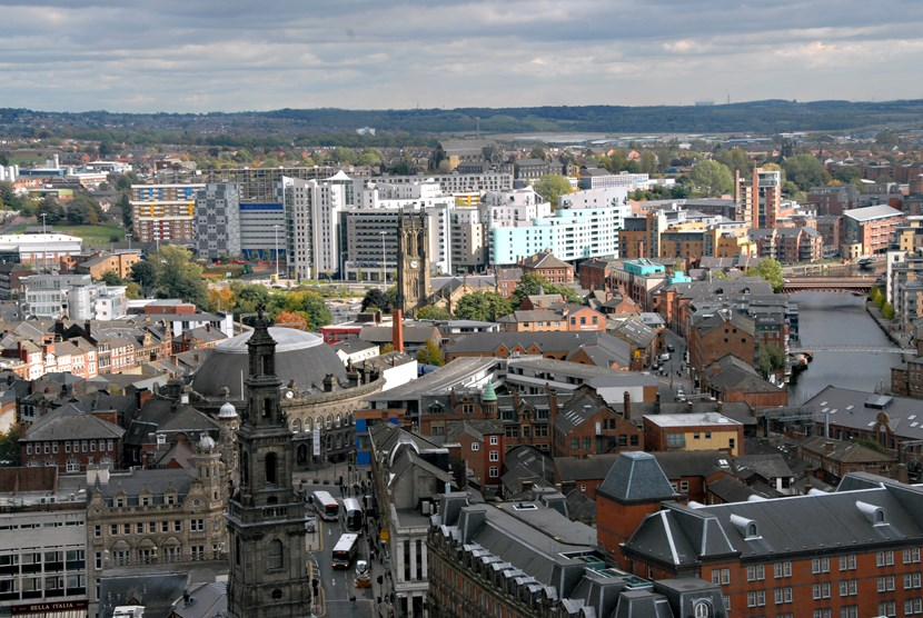 Strong economy compassionate city plans for Leeds: cityelavatedview.jpg