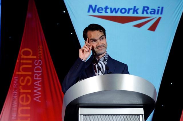 Network Rail Partnership Awards host, Jimmy Carr