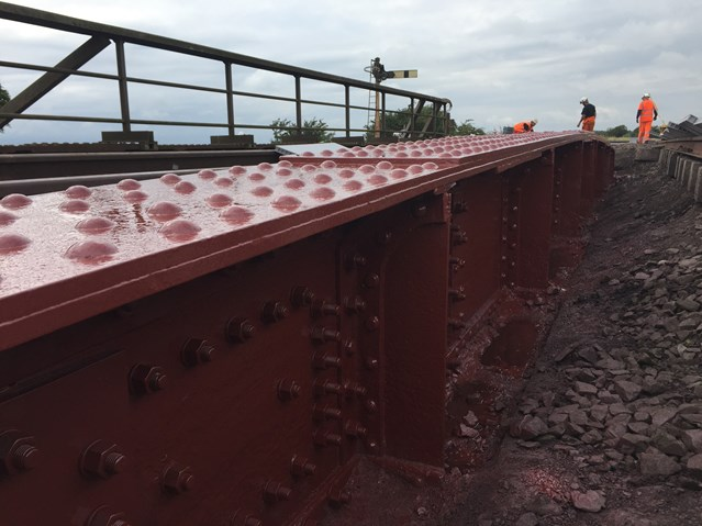 Network Rail completes Mauchline railway bridge refurbishment: Ayr Road - Strengthening