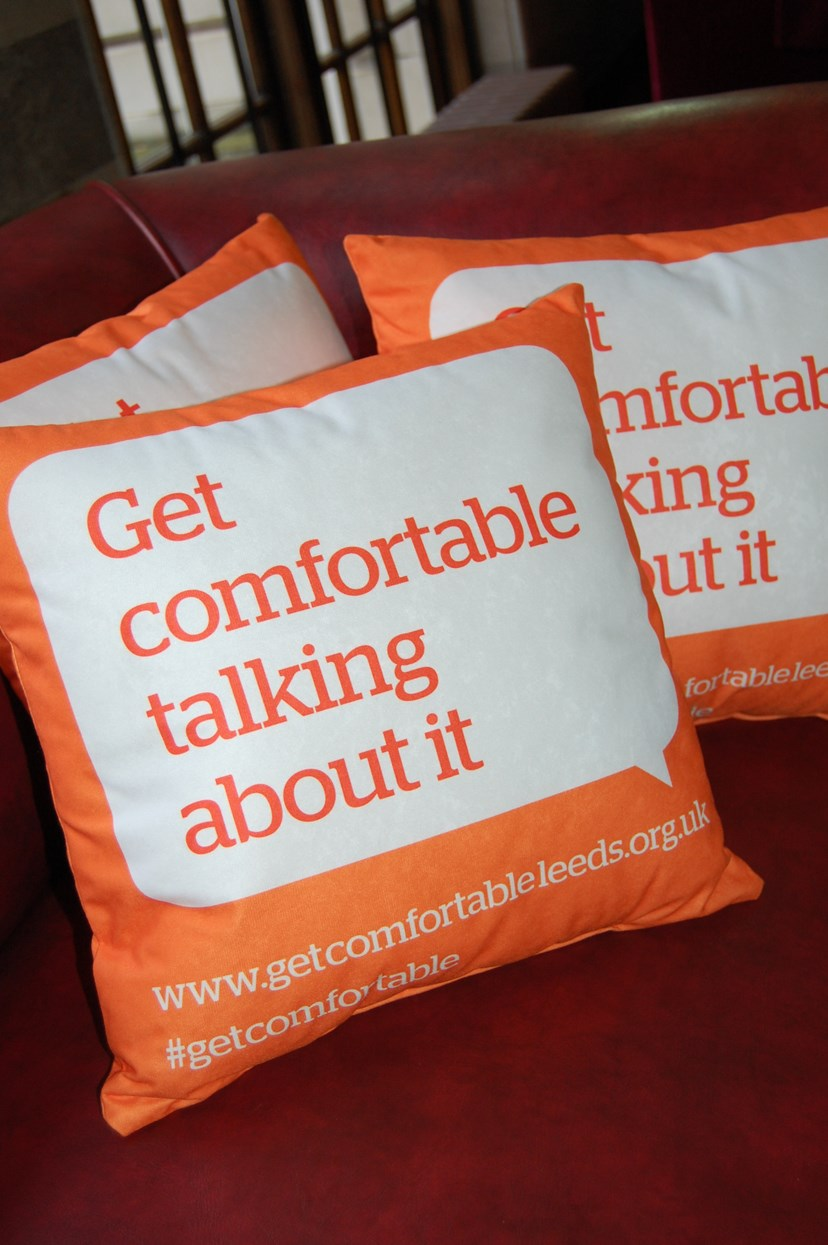 Get comfortable talking about domestic violence: getcomfortablecushions2.jpg